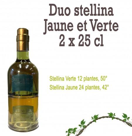 Duo Stellina Verte et Jaune 2 x 25 cl
