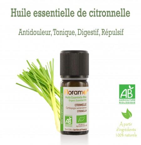 Huile essentielle Citronnelle (Cymbopogon winterianus) 10ml