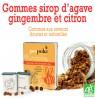 Gommes Bio Sirop d'agave, gingembre et citron 45g