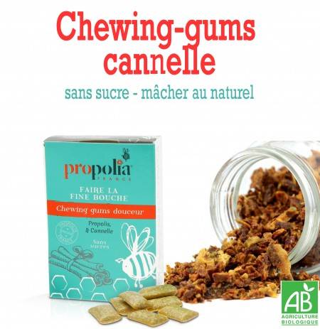 Chewing-gums propolis cannelle