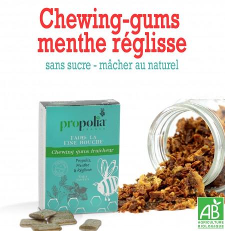 chewing-gums propolis menthe