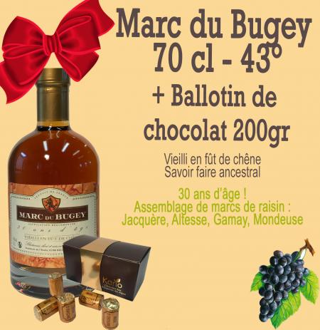 Marc du Bugey et son ballotin au chocolat